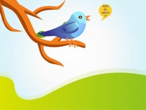 Twitter bird tweeting